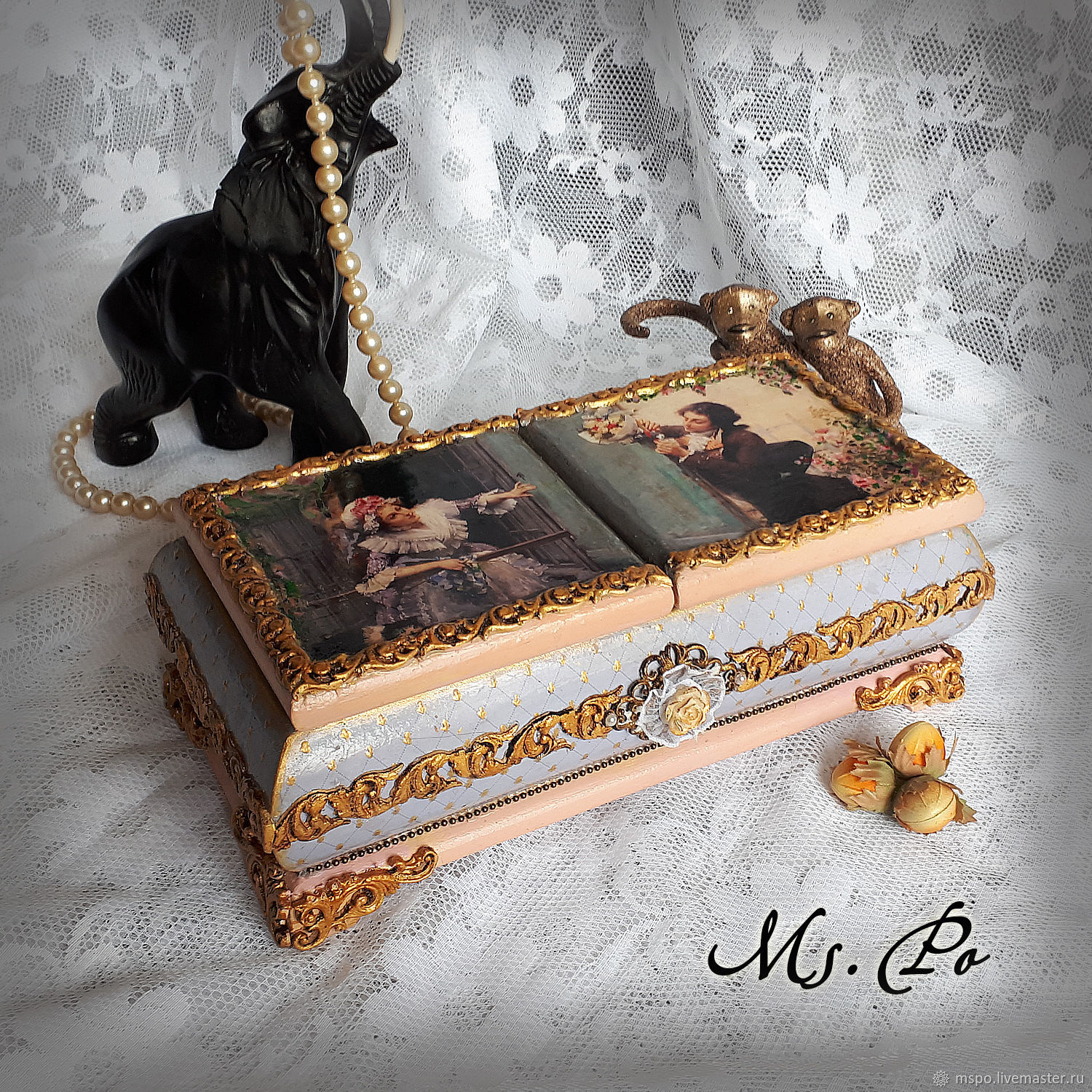 Trinket Boxes handmade. Livemaster - handmade. Buy Box 'Rendezvous at the window'.Gift, a wedding gift