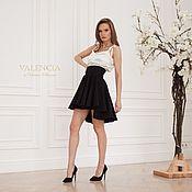Одежда handmade. Livemaster - original item Elegant skirt Annabelle black color with a cascading cut. Handmade.