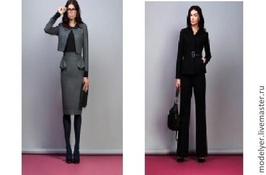 Костюмы ручной работы. Ярмарка Мастеров - ручная работа. Купить Брючный женский  костюм  42 размер кашемир черный. Handmade.