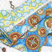 """Работы для детей, ручной работы. Ярмарка Мастеров - ручная работа Мешочек для хранения """"Приключения бобра и медведя"""".. Handmade."""