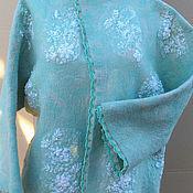 Одежда ручной работы. Ярмарка Мастеров - ручная работа Мятный жакет из бисерного кружева. Handmade.