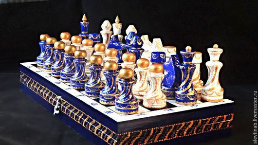 Персональные подарки ручной работы. Ярмарка Мастеров - ручная работа. Купить шахматы деревянные подарочные  Вечер в Венеции. Handmade.