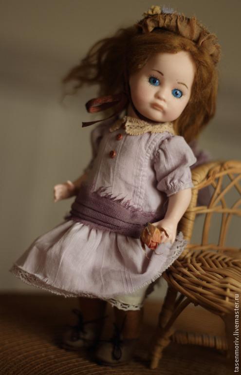Коллекционные куклы ручной работы. Ярмарка Мастеров - ручная работа. Купить Кэт. Малышка на счастье. Handmade. Сиреневый, коллекционная кукла
