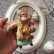 Сувениры и подарки handmade. Livemaster - original item Cotton toy Girl with bagels and pretzel. Handmade.