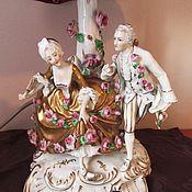 Винтаж handmade. Livemaster - original item TABLE LAMP CHINA Dresden Germany. Handmade.