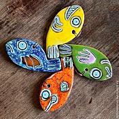 Украшения ручной работы. Ярмарка Мастеров - ручная работа Рыбы летят на север. Handmade.