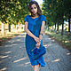 """Платья ручной работы. Валяный комплект  """"Bleu Ciel"""". Stela Style. Ярмарка Мастеров. Подарок женщине, легкое платье"""