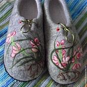 """Обувь ручной работы. Ярмарка Мастеров - ручная работа Тапочки """"Орхидейки"""". Handmade."""