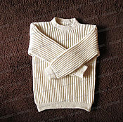 Одежда handmade. Livemaster - original item Sweater from sheep wool without a collar, that light (No. №3). Handmade.