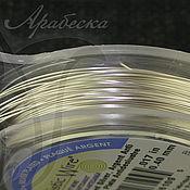 Проволока 0.41мм эконом-упаковка сияющего серебряного цв. 27м США