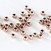 Материалы для творчества handmade. Livemaster - original item 1797_50_Позолоченные beads 2.5 mm spacer Beads rose gold, Round.. Handmade.
