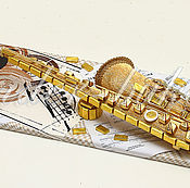 """Подарки к праздникам ручной работы. Ярмарка Мастеров - ручная работа Саксофон из конфет """"Все это джаз"""". Handmade."""