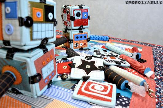 Развивающие игрушки ручной работы. Ярмарка Мастеров - ручная работа. Купить Роботокомплект, кубики покрывало торба. Handmade. Комбинированный, фастекс