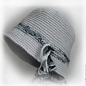 Аксессуары ручной работы. Ярмарка Мастеров - ручная работа Клош вязаный серый. Handmade.