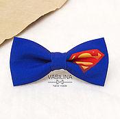 Галстуки ручной работы. Ярмарка Мастеров - ручная работа Супермен Галстук-бабочка, Супергерои. Handmade.