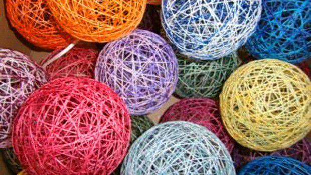 Фото шаров из ниток своими руками