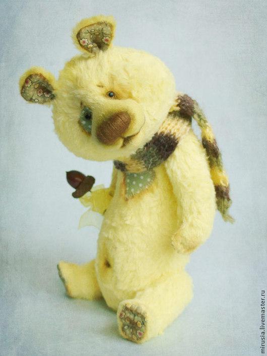 Мишки Тедди ручной работы. Ярмарка Мастеров - ручная работа. Купить Лимончик. Handmade. Мишки тедди, стеклянные глазки