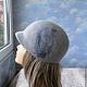 """Шляпы ручной работы. Заказать кепи """"Gray"""". ZIMa    (Ирина)          FeltHouse. Ярмарка Мастеров. Кепи, кепи валяная, войлочные кепи"""
