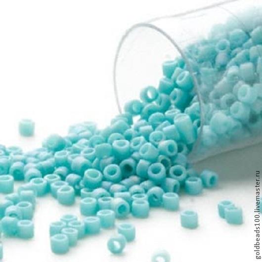 Для украшений ручной работы. Ярмарка Мастеров - ручная работа. Купить 10 ГР MIYUKI DELICA 11/0 DB878  opaque matte rainbow turquoise blue. Handmade.