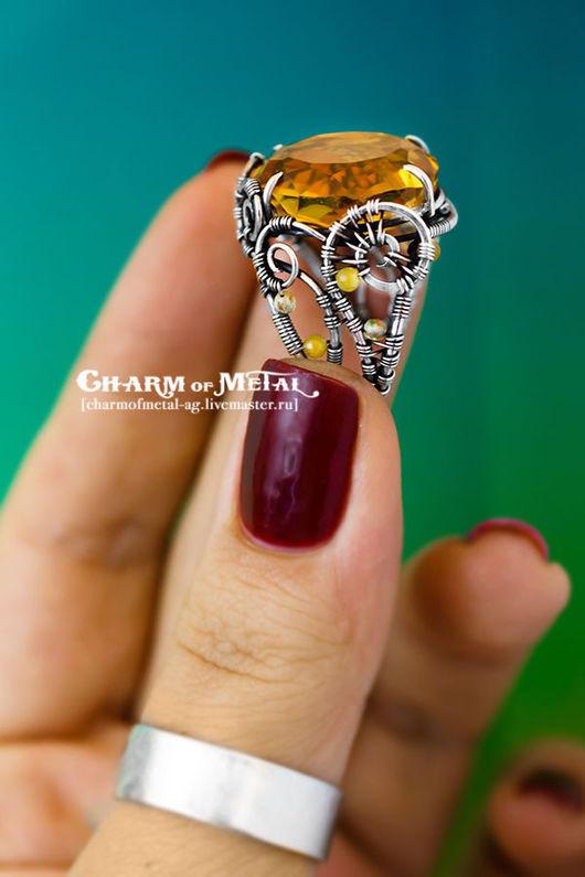 """Кольца ручной работы. Ярмарка Мастеров - ручная работа. Купить """"Elenwe"""" Серебряное кольцо. Handmade. Украшение, подарок женщине, wire"""