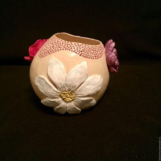 """Вазы ручной работы. Ярмарка Мастеров - ручная работа. Купить """"Карусель цветов"""" керамическая ваза. Handmade. Ваза, асимметричная ваза"""