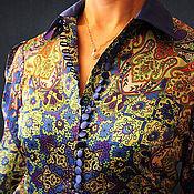 Одежда ручной работы. Ярмарка Мастеров - ручная работа Платье из атласного шелка Jonathan Saunders. Handmade.