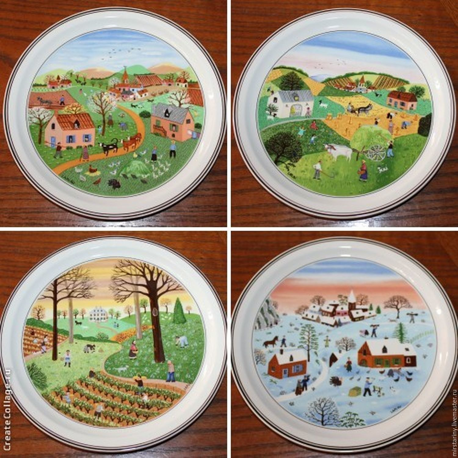 """The Collector's Plates Series """"four Seasons"""" Villeroy And"""