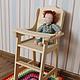 Развивающие игрушки ручной работы. Ярмарка Мастеров - ручная работа. Купить Кукольный стульчик для кормления. Handmade. Бежевый, стульчик для кукол