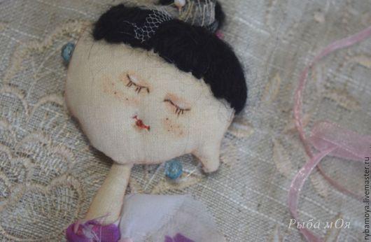 Авторская текстильная кукла Балеринка. Чердачная техника.  Ярмарка мастеров- ручная работа. Аuthor textile doll Ballerinka. Мастер Яга.