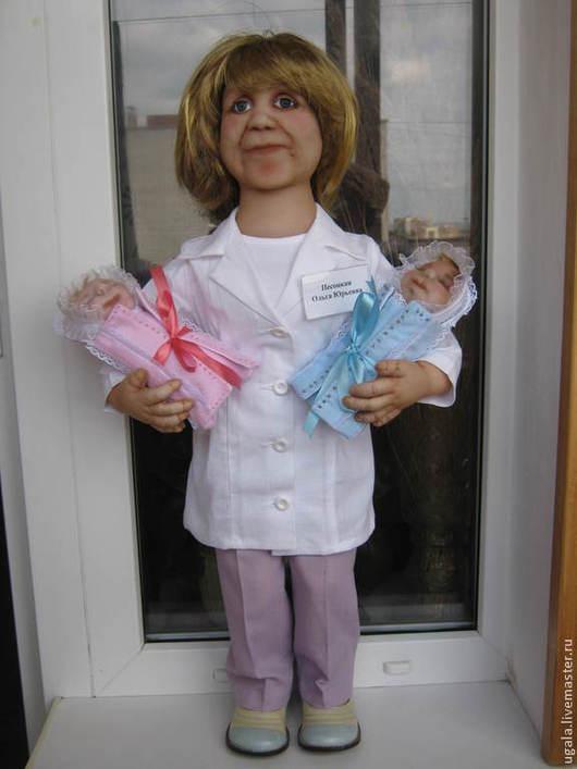 """Портретные куклы ручной работы. Ярмарка Мастеров - ручная работа. Купить Кукла """"Врач"""" по фото. Handmade. Портретная кукла, хлопок"""