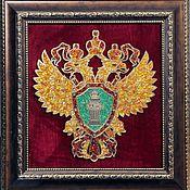 Картины и панно handmade. Livemaster - original item Coat of arms of the Prosecutor`s office of amber. Handmade.