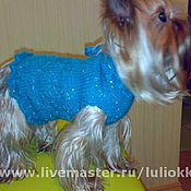 Для домашних животных, ручной работы. Ярмарка Мастеров - ручная работа Вязаное платье для собаки. Handmade.