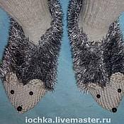 Аксессуары ручной работы. Ярмарка Мастеров - ручная работа Теплые шерстяные носки Ежики. Handmade.