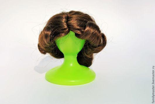 Куклы и игрушки ручной работы. Ярмарка Мастеров - ручная работа. Купить парик окружность 15-17см. Handmade. Коричневый