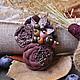 """Броши ручной работы. Ярмарка Мастеров - ручная работа. Купить Брошь """"Вишневый сад"""". Handmade. Бордовый, шоколадный, брошь из ткани"""