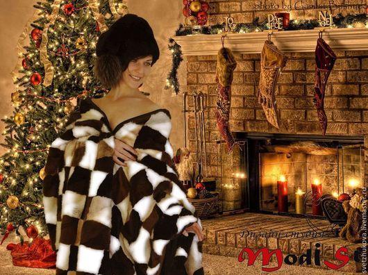 Текстиль, ковры ручной работы. Ярмарка Мастеров - ручная работа. Купить Покрывало из меха норки. Handmade. Покрывало, мех норки