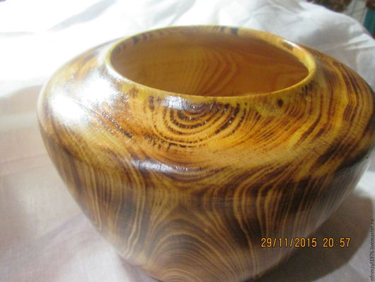 Вазы ручной работы. Ярмарка Мастеров - ручная работа. Купить Ваза деревянная из корня сосны. Handmade. Коричневый, деревенский стиль