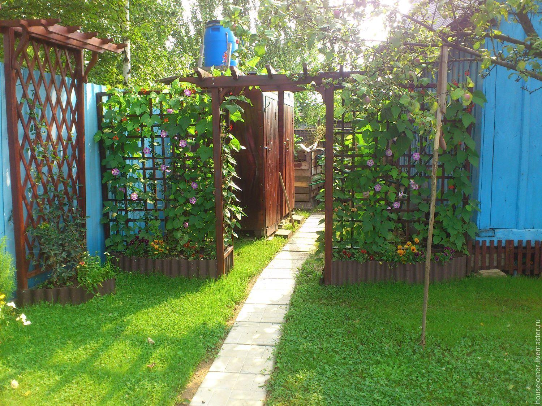 Деревянная ширма для сада своими руками