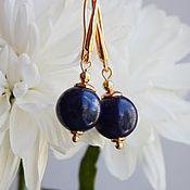 handmade. Livemaster - original item Svetlana earrings with sodalite. Handmade.