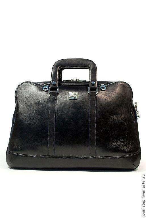 """Мужские сумки ручной работы. Ярмарка Мастеров - ручная работа. Купить Повседневная сумка унисекс """"Vertigo black"""". Handmade. Черный"""