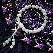 Фен-шуй и эзотерика handmade. Livemaster - original item Buddhist beads made of aquamarine and caholong, 21 beads (9 mm). Handmade.