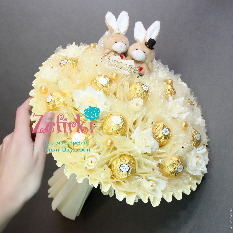 Букет из конфет на свадьбу в подарок