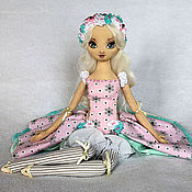 Куклы и игрушки handmade. Livemaster - original item Camellia, author`s textile doll, movable doll handmade. Handmade.