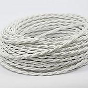 Дизайн ручной работы. Ярмарка Мастеров - ручная работа Провод витой для наружной проводки 2х0,75 белый шелк. Handmade.