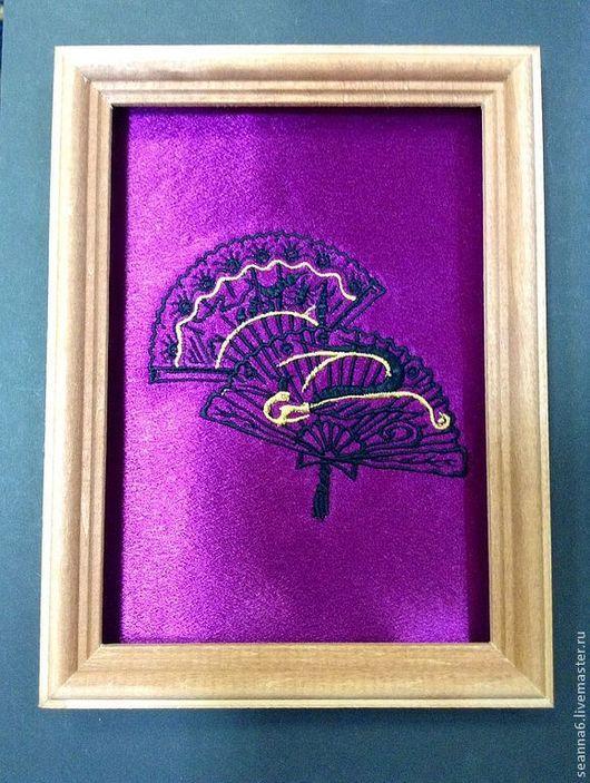 """Детская ручной работы. Ярмарка Мастеров - ручная работа. Купить Вышитая картина, картинка, панно """"Японские  ввера"""" в любом цвете. Handmade."""