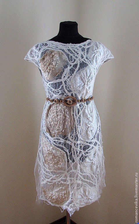 """Платья ручной работы. Ярмарка Мастеров - ручная работа. Купить Авторская туника, платье  """"Ирландское кружево"""", валяная. Handmade."""