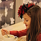 """Шляпы ручной работы. Коктейльная шляпка """"L'etoile de Noel"""" (Рождественская звезда). Наталья Прокофьева (la-magie-spb). Ярмарка Мастеров."""