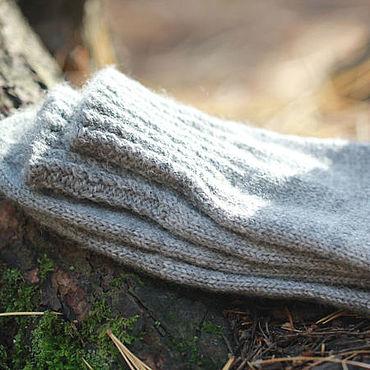 Аксессуары ручной работы. Ярмарка Мастеров - ручная работа Р.36 носки CLASSICO шерстяные вязаные серые. Handmade.