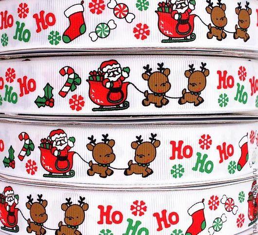 Шитье ручной работы. Ярмарка Мастеров - ручная работа. Купить Лента репсовая Дед Мороз и Новый год. Handmade. Лента репсовая
