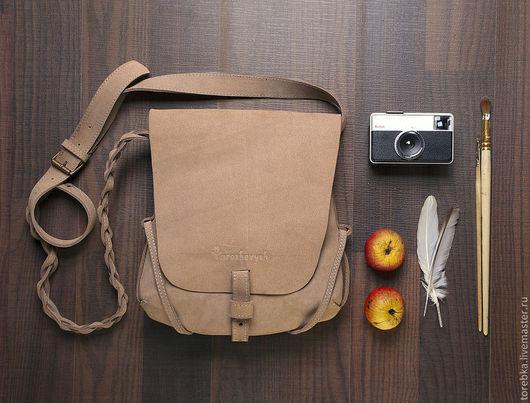 Женские сумки ручной работы. Ярмарка Мастеров - ручная работа. Купить сумка. Handmade. Бежевый, кожа натуральная, Кожаная сумка
